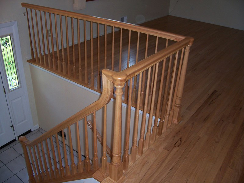 Wood Balustersstair And Railing, Wood Banister ...